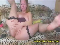 Nasty Mature Slut Loves Gaping Anal Masturbation