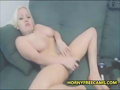 Cute Blonde Emo Teen Having Heavy Orgasm