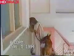 Amateur wild girl sucks and fucks dog sex videos