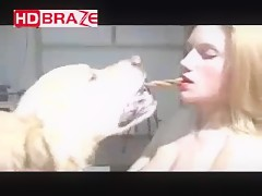 Dog blowjobs and  getting creampie woman compilation