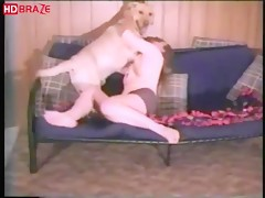 Animal sex hardcore video with dog fucks girl free