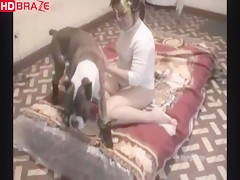 Amazing dog fucks girl orgy getting creampie