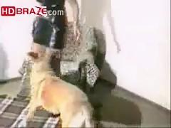 Amateur mature MILF enjoys dog porn free xxx HD