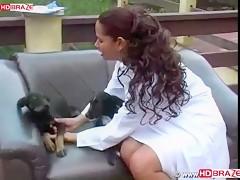 Stunning dog ass fucks human outdoor with wild Latinan babe