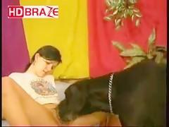 Hottest animal porn who fucks dog sex to get creampie