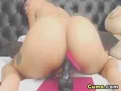 Pretty College Babe Fucks Herself Using Her Dildo