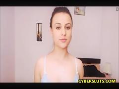 Sensual Stripping And Masturbating