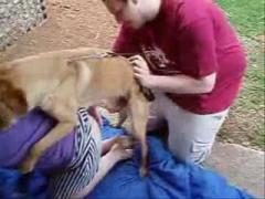 Dog fuck woman hardcore