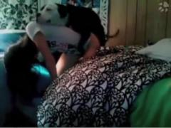 Nice girl gets nailed by cute dog - Animal sex