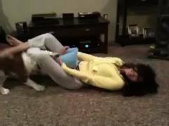 the girl Orgams when fuck dog