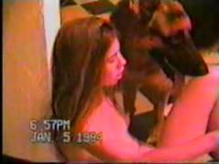 animal and girls xxx in dark