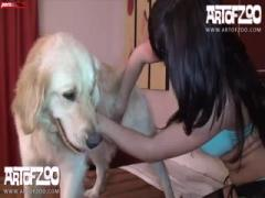 Zoo Porn - Good Dog Make Love With Skiny Girl