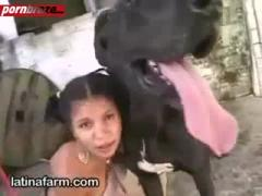 Latina Babe Public fuck Dog