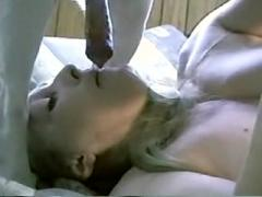 Lucky Dog ejaculation Full Face Girl