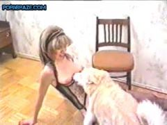blondie in lingerie Fucking Dog Really- Animal Porn Free