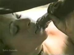Cum in her mouth - Horse sex free
