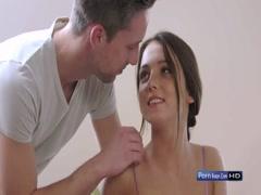 Lucky guy take off lovely teen girl's dress