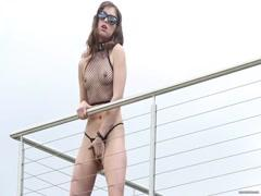 Oiled up and fucking hard her tight pussy hardcore porn