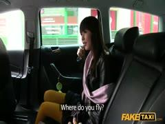 Amateur asian gets fucked by taxi driver's huge dick