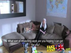 FakeAgentUK Fake casting sees Web cam girl tryout hardcore