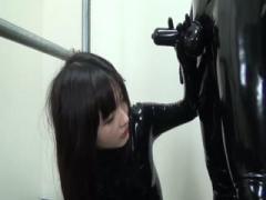 Japanese spy sucking her coworker