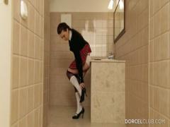 Horny Schoolgirl Gets Fucked In Toilet