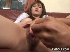 Asian Wife Gets A Vibrator And Fingering From A Guy