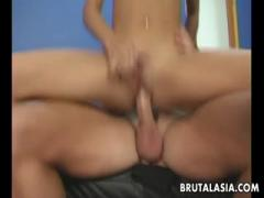 Thin Girl With Blonde Hair Gets Her Pussy Filled - Porn HD