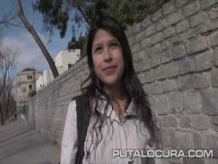 PUTA LOCURA Cute Busty Teen picked up - HD Video
