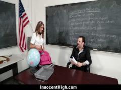 Schoolgirl learns French basics by sucking - HD Video  Pornbraze.com