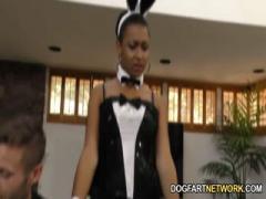 Ebony bunny Jazzy goes on her knees for white guys - HD Video  Pornbraze.com