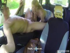 Amateur girl blowjob hard her taxi driver