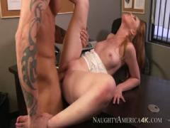 Marie McCray gets fucked hard in office