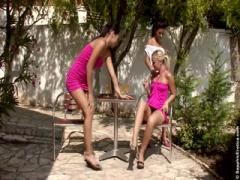Sexy friends enjoy a lesbian threesome - HD porn video | Pornbraze.com