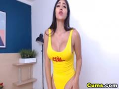 Sexy Chick With Big Tits Fucks Her Pussy With Dildo