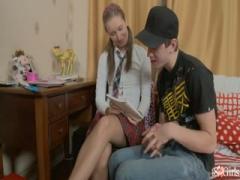 Teen Schoolgirl Gets Cum In Her Pussy