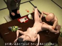 3D Hentai - Japanese 3D young wife gets raped by uncle and stepfather