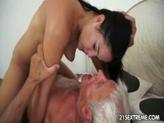 Teen porn HD Dolly fucks grandpa after picnic