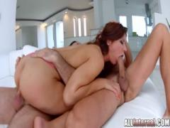 Anal sex with a creampie for gorgeous hottie babe - Teen anal pain