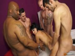 Dirty whore MILF gangbanged by crazy men - Hardcore porn HD