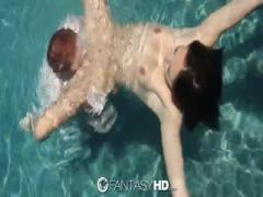 Sexy Babe want to change feeling to fuck under water - HD Porn
