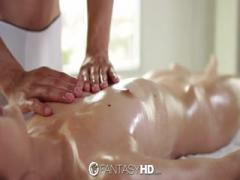 Massaging oil up and fucking hard chick customer - HD Porn