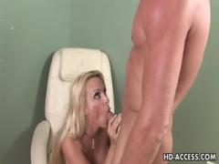 Holly Halston gives Blowjob Sucking and Fucking her man