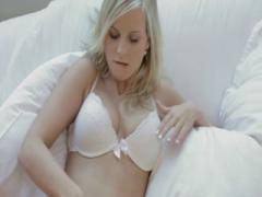Busty blonde Marry Queen strips - HD Sex