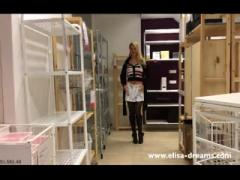 Upskirt and Flashing No Panties in a Famous Shop 3: Porn e4