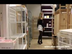 Upskirt and Flashing No Panties in a Famous Shop 2: Porn 04