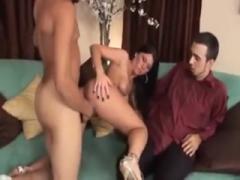 Husband watching wife gangbanged by black guys - hardcore sex hd