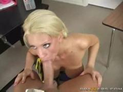 Hot Blonde  Cheerleader Titfuck!