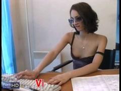 Horny slut secretary gets anal fucked by her boss