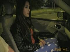 Talking to teen girl and driving around